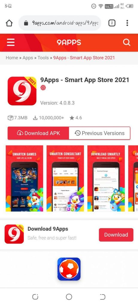 9Apps-app-download-page